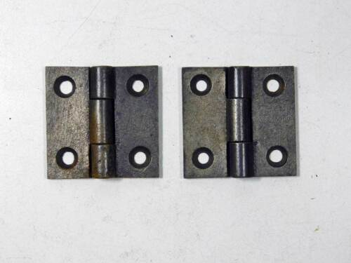 """1 Pair Tight Pin Cast Iron Butt Hinges, Antique, Cupboard Size 2"""" x 2"""""""