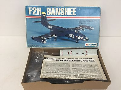 U.S. Airfix 1/72 F-2H Banshee Model Aircraft Kit NIOB