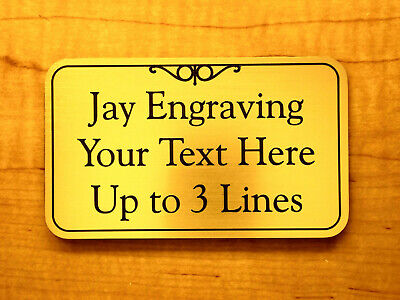 Custom Engraved Brushed Gold 3x5 Office Suite Wall Sign Business Personalized