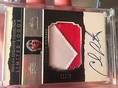 2003 Exquisite Collection Carmelo Anthony Rc Auto Patch Limited Logos  75 Retro
