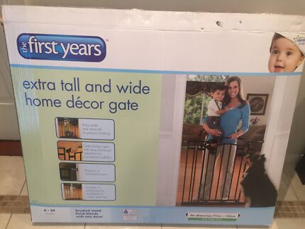 The first years extra tall & wide home decor Gate