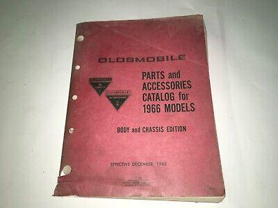 Original GM 1966 Oldsmobile Parts and Accessories Catalog 442 Cutlass F85 Delta