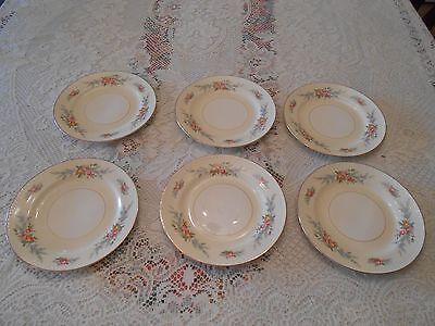 6 Vintage Homer Laughlin Georgian Eggshell Countess Pattern Bread/Dessert Plates