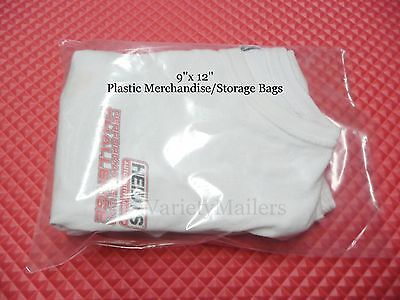 40 Clear Plastic Merchandise Bags 9x 12 1.5 Mil Quality Free Shipping