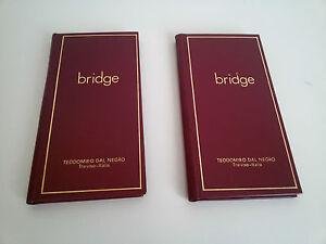 Originale-DAL-NEGRO-Coppia-di-SEGNAPUNTI-BRIDGE-VINTAGE-Rara-Giacenza-NUOVA