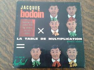 45 tours jacques bodoin la table de multiplication ebay - Jacques bodoin la table de multiplication ...