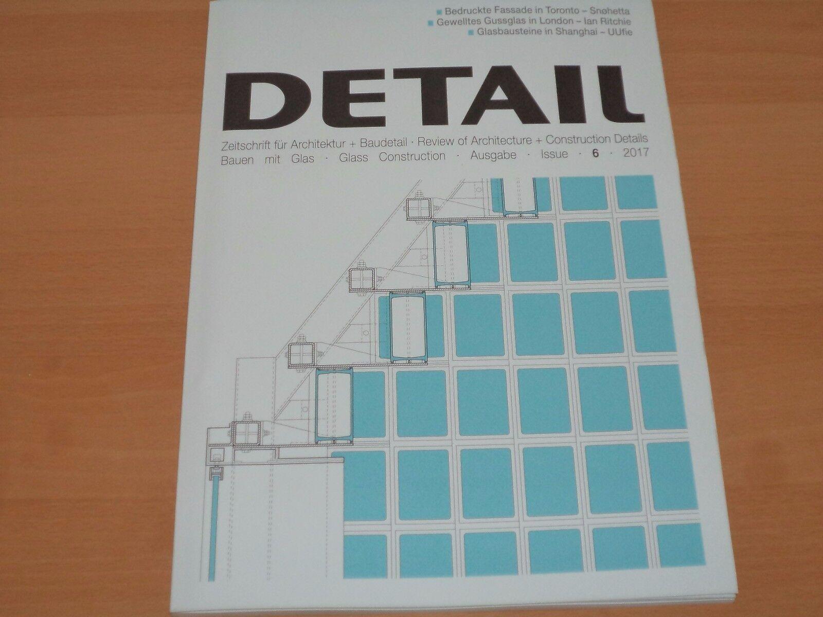 DETAIL Zeitschrift für Architektur + Baudetail Serie 6/2017 Neuwertig!