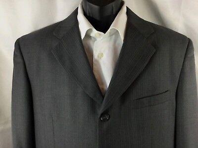 VANETTI Italy Men's 40R Gray Pin Striped Sport Coat Blazer Suit Jacket 4 Button