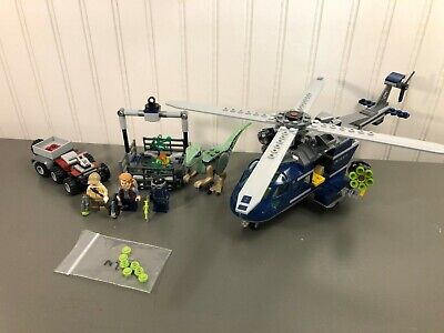 LEGO Jurassic World Blue Helicopter Pursuit #75928 100% Complete