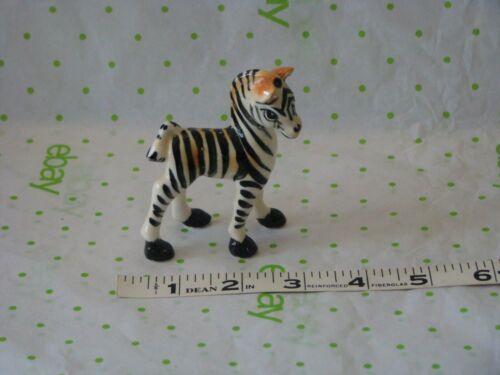 Vintage Porcelain Ceramic Zebra Figurine Very Cute No Markings Zebra Ceramic
