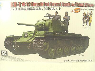 KV-1 Panzer Russland m. Besatzung - Trumpeter Bausatz 1:35 - 09597 #E