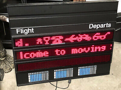 Set Of 3 The Moving Message Vintage Electronic Display Sign Wremotes