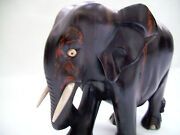 Large Wooden Elephant