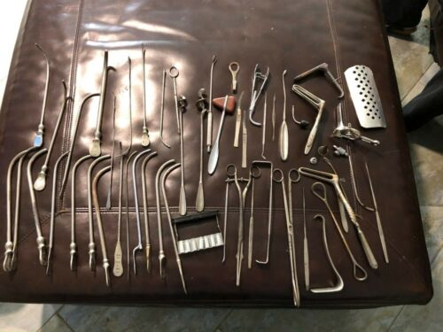 Vintage Medical Surgical Lot Tools Instruments Supplies Gynecology and More