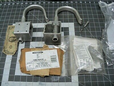 2pk Werner 74-1 - Cable Hook Kit - Fits Fiberglass Ladders - Cable
