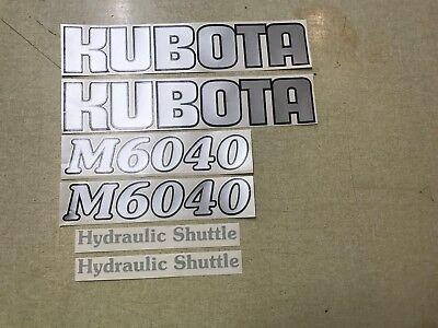 Kubota M6040 Tractor Decals
