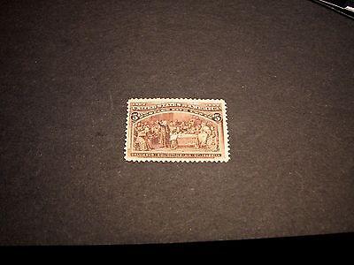 US Stamp Scott# 234 Columbus Soliciting Aid 1893 MH  C316
