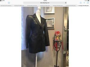 Canadian designer MLC long leather jacket