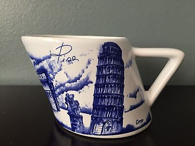 VINTAGE Blue And White Leaning Tower Of Pisa Mug Italy