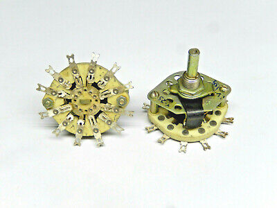 Ceramic Rotary Switches 4p-2t Lot Of 2pcs