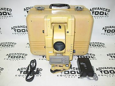 Topcon Gts-304 Total Station Transit W Case New Charger Battery Survey Level