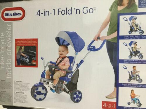 Little Tikes Fold 'n Go 4-in-1 Trike, Blue/Grey
