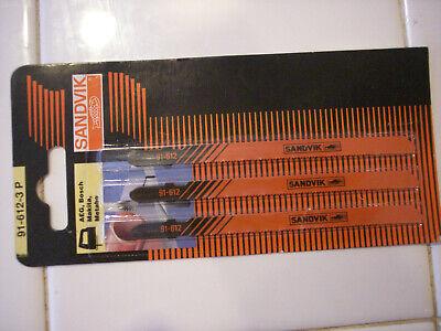 Sandvik 5in Jigsaw Blade 91-612-3p For Aeg Bosch Makita Metabo 3 Pak