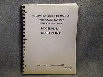 Makino Milling Nc Electrical Discharge Machine Instruction Manual Guide 11081