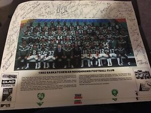 1982 signed print of riders