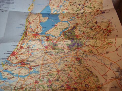 1990 MAP AND TOURIST TRAVEL INFORMATION HOLLAND PLEASE LOOK AT PICTURES