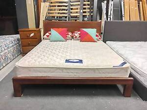 DELIVERY TODAY Queen bed & mattress STRONG SOLID WOODEN bed Belmont Belmont Area Preview