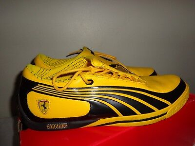mens PUMA Cat OFFICIAL FERRARI yellow shoes size 8.5 with box