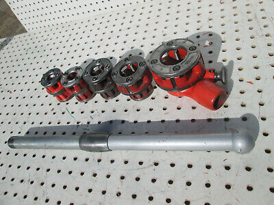 Ridgid 00-r Pipe Ratchet Threader Set 5 Cutter Heads Npt 14-1 Inserts