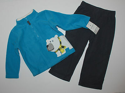 Carters Eisbär (Jogginganzug~NEU~USA~68-74~Carters~2 tlg~Langarmshirt+Hose~Fleece~Eisbär~Anzug~)