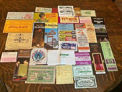 Large Group of Vintage Las Vegas & Reno Memorabila 40 pieces