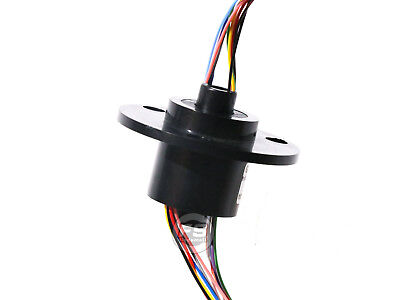 New 12wires 380v Acdc 2a 5mm Dia Metal Capsule Conductors Slip Ring Black