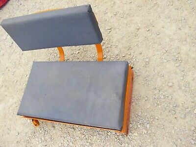 Allis Chalmers B Ac Tractor Deluxe Seat Assembly Cushions Rear Light Bracket