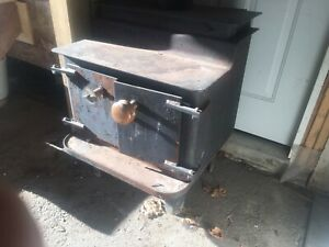 Wood stove solid cast iron