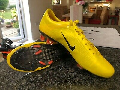 Nike Mercurial Vapor Superfly 1 FG Yellow Size 7 UK Football Boots