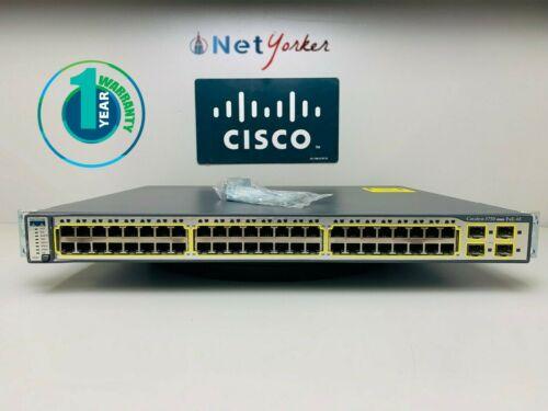 Cisco WS-C3750-48PS-S • 48 Port PoE Switch ■ 1 YEAR WARRANTY • SAMEDAYSHIPPING ■