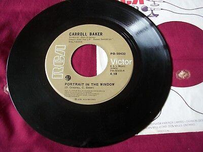 "RARE 1978 7"" VINYL. CARROLL BAKER ""PORTRAIT IN THE WINDOW""/""WHO'S GONNA LOVE ME"""