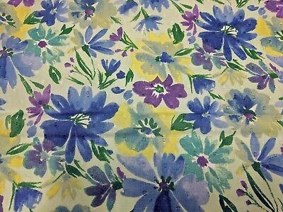 Swiss Dot Daisies Floral Print Mint Grn100% Cotton 43