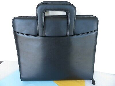 Monarch 1.25 Rings Blk. Sim. Leather Franklin Covey Zip Plannerbinder Handles
