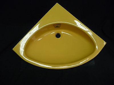 Keramag Eck-Waschbecken Handwaschbecken Farbe curry für die Ecke 50 cm Schenkel