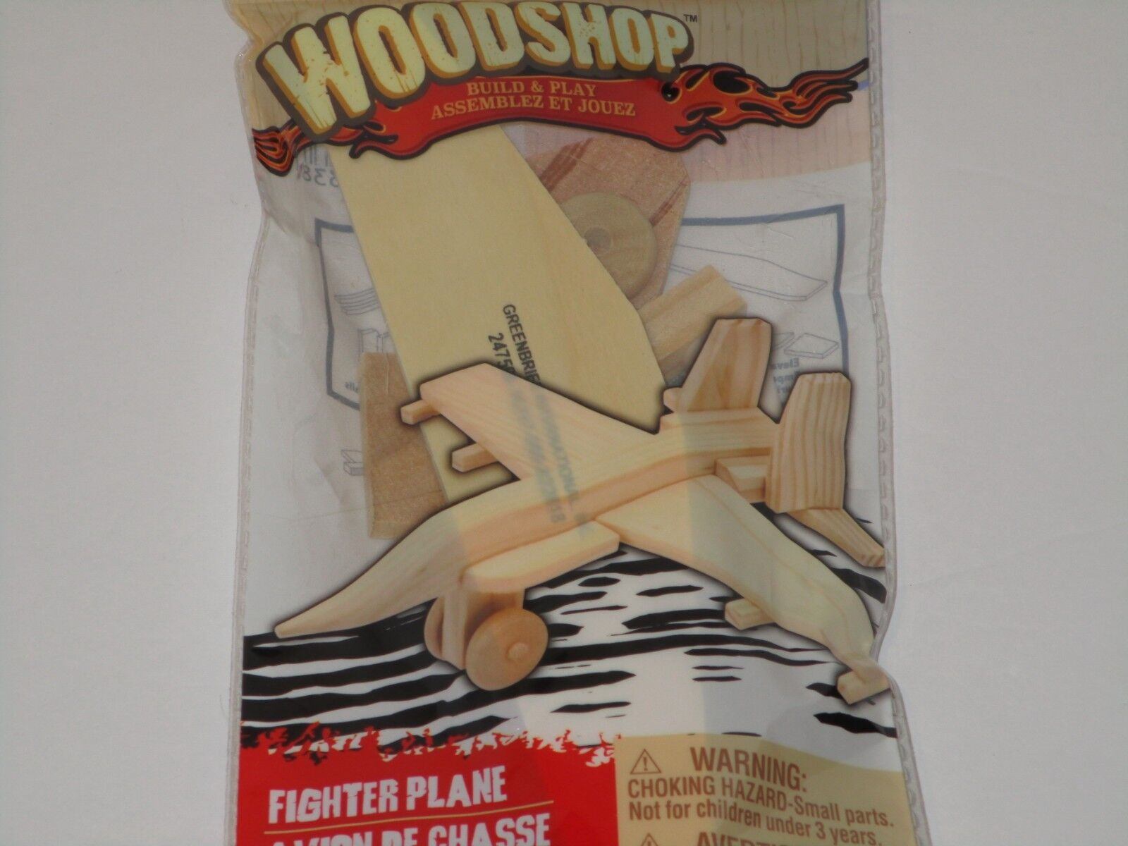 Wood Shop Model Kit - YOU Build Real Wooden AIRPLANE Fun Toy