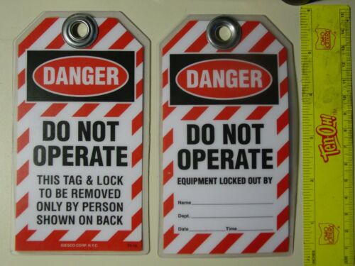 Tag Out, Danger, Do Not Operate Tags IDESCO