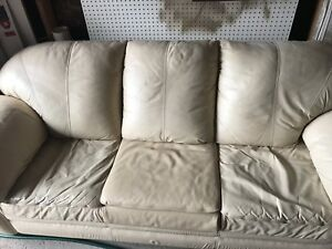Leather 3 Person Couch
