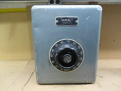 Variac W50m Variable Current Regulator Vintage Electronic Test Equipment