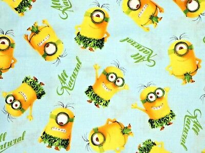 MINIONS FABRIC ALL NATURAL GRASS SKIRT DESPICABLE ME MATERIAL COTTON BY THE - Grass Skirt Material