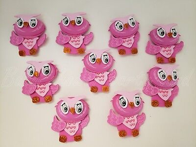 10 Pink Foam Owls Baby Shower Party Decoration its a Girl Favors Prize Recuerdos - Baby Shower Favors Owls